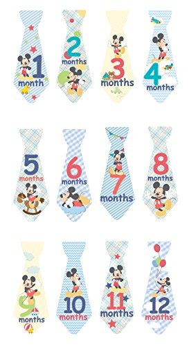 [Disney Milestone Tie Stickers, Mickey Mouse] (Family Disney Shirts)