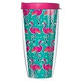 Flamingo Wrap Super Traveler 22 Oz Tumbler Mug with Lid by Signature Tumblers
