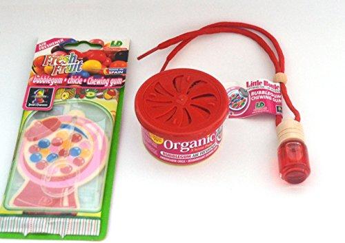 L&D Bubble Gum - Kaugummi Duft Trio Duftflakon Organic Scent Lufterfrischer 3-er Set