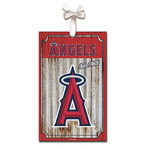 Team Sports America Los Angeles Angels of Anaheim, Metal Corrugate Ornament