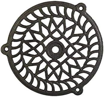 180 mm Brut de fonderie Grille daeration ronde