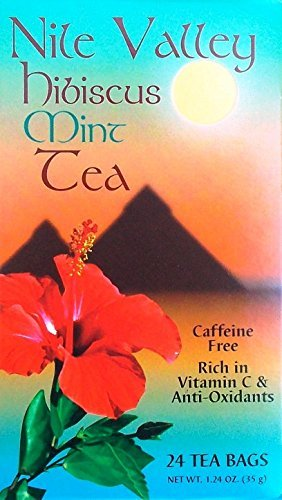 Nile Valley Mint Hibiscus Tea, 24 Tea Bags, 1.24 ()