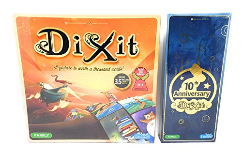Dixit Board Game with 10th Anniversary Expansion Bundle