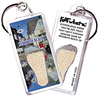 "product image for Rehoboth Beach""FootWhere"" Souvenir Keychain. Made in USA (RB106 - Ye Olde Shoppes)"