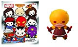Marvel Collection Laser Cut 3D Figural Keyring Series 8 ~ Yellow Daredevil ~ Chase (Opened to Identify)