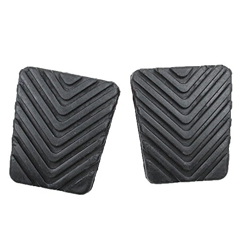 koauto 2 Pcs Black Rubber Brake Clutch Pedal Pad for Hyundai 32825-36000