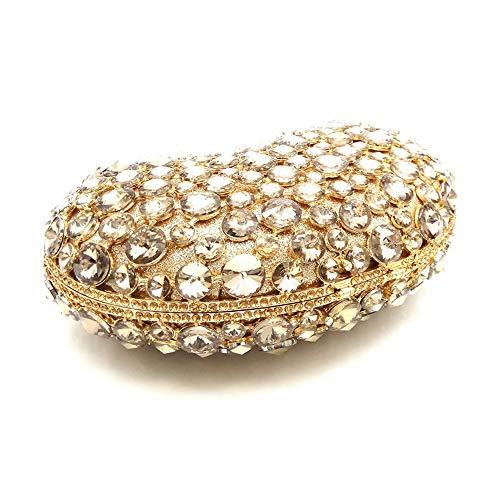 de en del curso de baile de bols del corazn las noche lujo de Bolso fin del del diamante diamante embrague Gold de del de cu de forma Bolso fin de de del Bolso bolso baile de bolso seoras Bolso noche del qOg0ETxwt