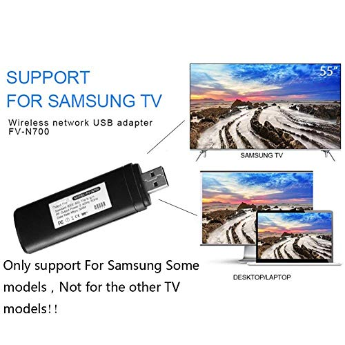 Velidy USB TV Wireless Wi-Fi Adapter,802.11ac 2.4GHz and 5GHz Dual-Band Wireless Network USB WiFi Adapter for Some Samsung Smart TV,Computer,Laptop and Tablet PC 300M