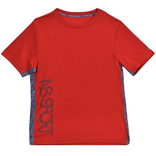 Dot Loungewear - New Balance Kids Little Boys' Short Sleeve Performance Tee, Team Red/Camo Dots, 5