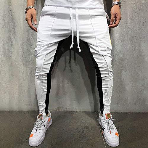 Caqui SóLido Solid Negro OHQ Azul Hombre Pantalones Sweatpant Color Jogger Blanco Casual Gris Fashion Patchwork Pant Vaqueros qnHxgU
