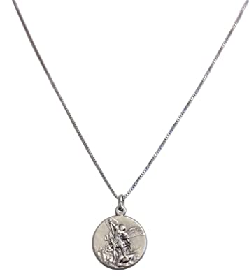 Michael 925 Sterling Silber Medaille Erzengel St