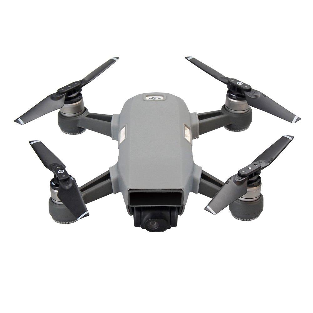 Flycoo Silicone Etui Souple Housse Coque Cas pour DJI Spark Drone Blanc Anti-Rayure Protection Accessoires