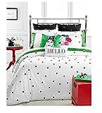 Kate Spade Deco Dot KING Comforter Set, Black/White