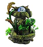 GiftsRDecor Tabletop Fountain Forest Waterfall Cascading Lotus Leaves