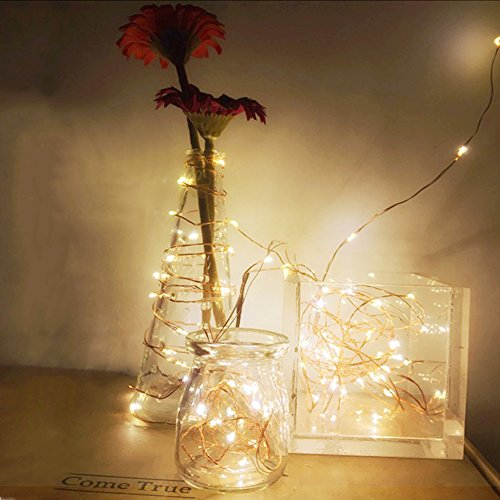 2-Set-Fairy-Lights-Battery-Operated-Fairy-String-Lights-Waterproof-YIHONG-8-Modes-50-LED-String-Lights-164FT-Copper-Wire-Firefly-Lights-Remote-Control-Warm-White