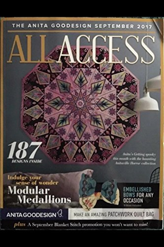 Anita Goodesign Embroidery Machine Designs All Access VIP Club September 2017 Book & CD