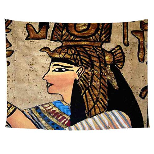 Clearance Sale!DEESEE(TM)Fashion Tapestry Pattern Fresh Style Egypt Decorative Tapestry Home Decor (B)