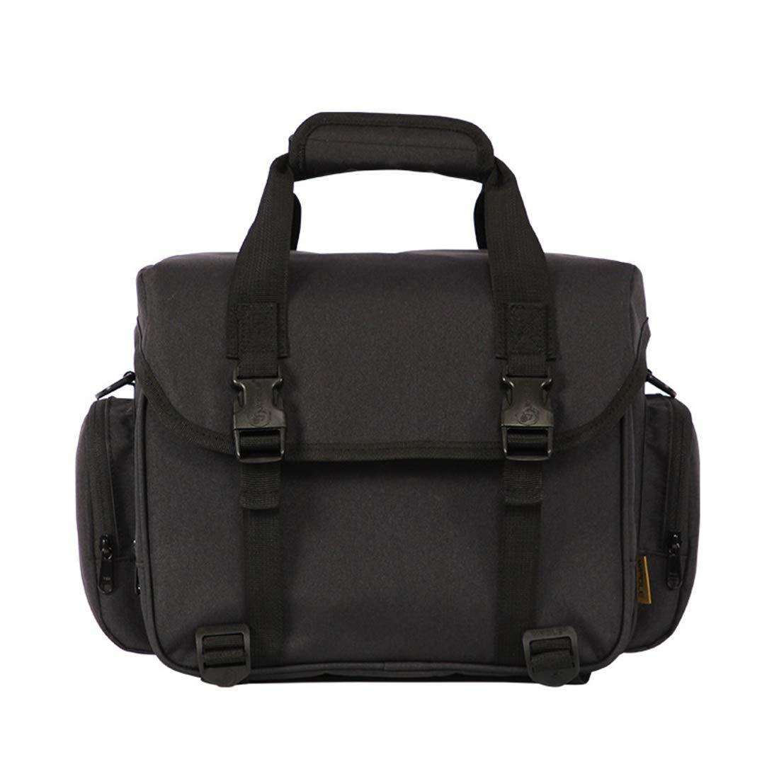 JOYS CLOTHING 多機能防水大容量一眼レフカメラバッグショルダーデジタル盗難防止バッグ (Color : ブラック)  ブラック B07L27V12T