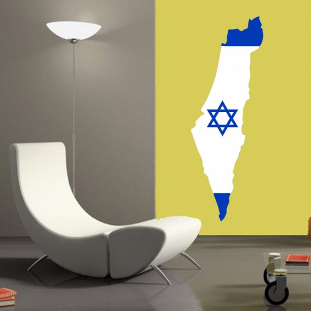 Amazon.com: Israeli Flag Map of Israel Wall Vinyl Sticker Custom ...