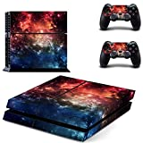 SKINOWN Sticker Skin Decal Cover for Sony PS4 PlayStation 4 Console and Controller - Space Station