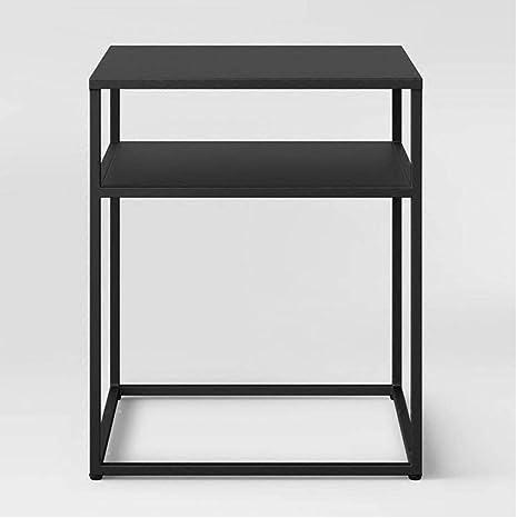 Mesa centro pequeña Mini arte hierro simple Mesa lateral cuadrada ...