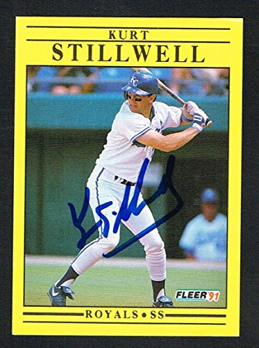 Kurt Stillwell #571 signed autograph auto 1991 Fleer Baseball Trading ()