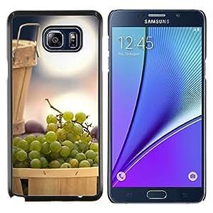 LECELL--Funda protectora / Cubierta / Piel For Samsung Galaxy Note 5 5th N9200 -- Naturaleza Hermosa Forrest Verde 121 --