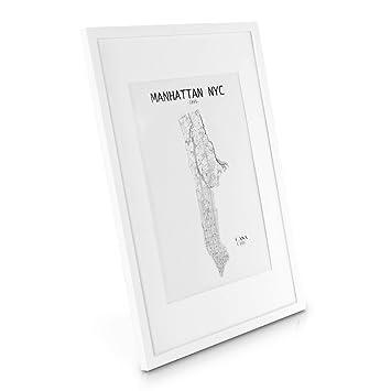 Captivating Echtholz Bilderrahmen A2   Weiß   DIN A2 Bilderrahmen Mit A3 Passepartout  Und Plexiglasscheibe   Poster Design Inspirations