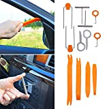 Super PDR 12Pcs Auto Door Clip Panel Trim Removal Tool Kits for Car Dash Radio Audio Installer Pry Tool