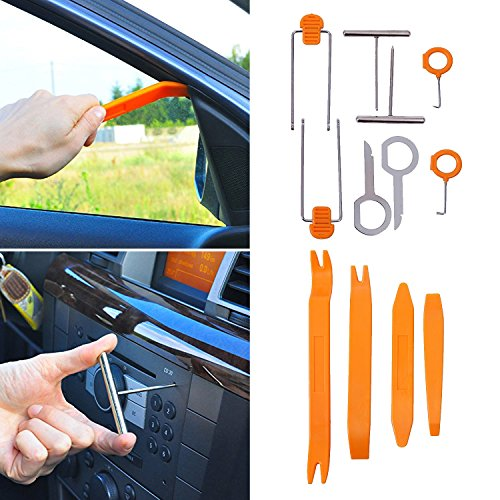 Super PDR 12Pcs Auto Door Clip Panel Trim Removal Tool Kits for Car Dash Radio Audio Installer Pry Tool by Super PDR (Image #7)