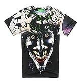 Bonita Unisex Harajuku 3D T-shirt Style Joker Heath Ledger Hip Hop Top Tee (L)