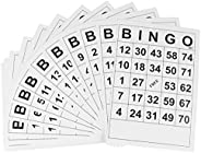 NUOBESTY 60pcs Bingo Game Card Bingo Card