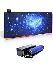 Tappetino RGB Mouse Gaming Grande Mouse Pad XL 800 x 300mm 11 Effetti Luce Keyboard Esteso Mouse Pad Superficie Liscia Base in Gomma Antiscivolo per PC, Laptop e Notebook