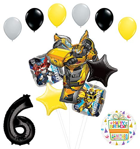 Transformers Mayflower Products Bumblebee 6th Birthday Party Supplies Balloon Bouquet Decorations ()