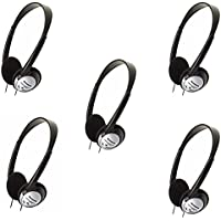 Panasonic On-Ear Stereo Headphones RP-HT21 (5-Pack)