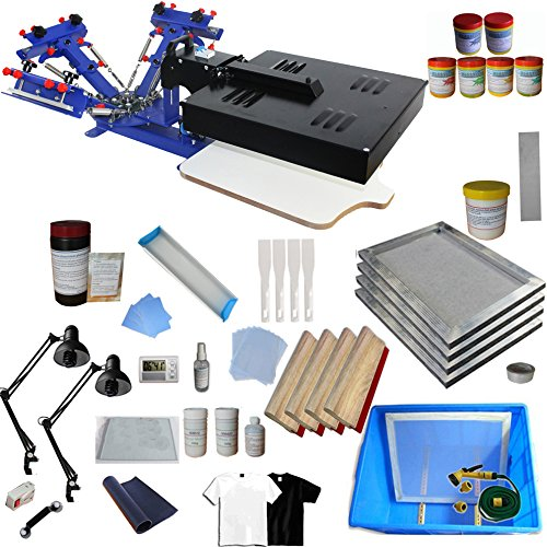 3 Color 1 Station Screen Press Equipped with Dryer Screen Printing Start Kit - 006942 by Screen Printing Kit