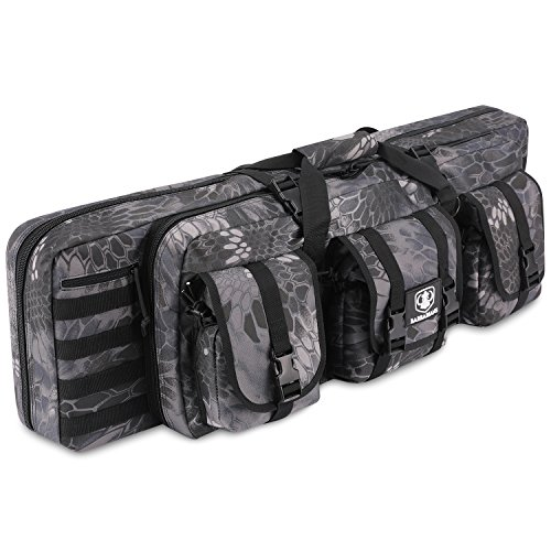 Barbarians Tactical Rifle Bag Case, 36 Inch Molle Rifle Bag Backpack Black Python (Paintball Gun Double Barrel)