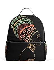 JSTEL African Woman School Backpack 2th 3th 4th Grade for Boys Teen Girls Kids