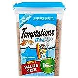 TEMPTATIONS MixUps Cat Treats (Tuna, Shrimp, Salmon, 16 oz. - Pack of 6)