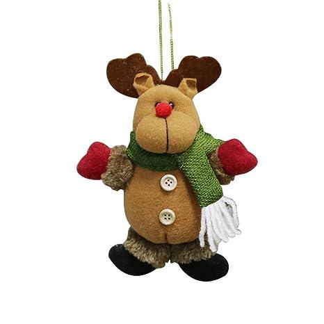 BHYDRY Adorno de Navidad Santa Muñeco de Nieve Reno Juguete Muñeca Cuelgue la decoración del Partido