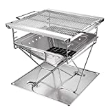 TangFeii Outdoor Products, fire Grill, Stainless Steel Folding Barbecue Grill, BBQ Oven