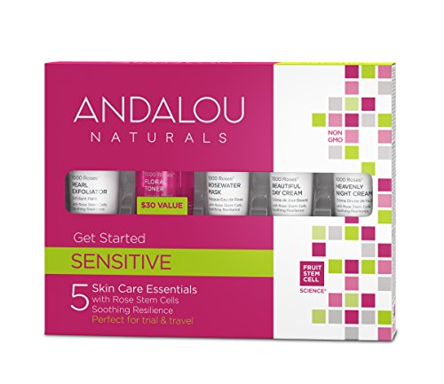 Andalou Naturals 1000 Roses Get Started Kit, 5 Count (Exfoliator, Toner, Mask, Day Cream, Night Cream) -  SPK-125760