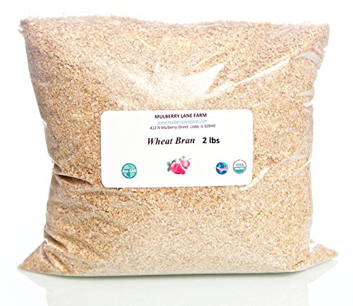 Wheat Bran, 32 Ounces, (2 lbs; Two Pounds), USDA Certified Organic, Non-GMO, BULK. by Mulberry Lane Farms