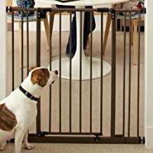 "Pet Stores Usa - Extra Tall Deluxe Easy-Close Gate With 2 Extensions 28"" - 38.5"" X 36"""