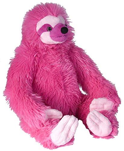 Wild Republic Three-Toed Sloth Plush, Stuffed Animal, Plush Toy, Gifts For Kids, Pink, Cuddlekins 12&Quot; -