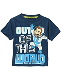 """Toddler Boys Curious George """"out of this world"""" T-Shirt"""