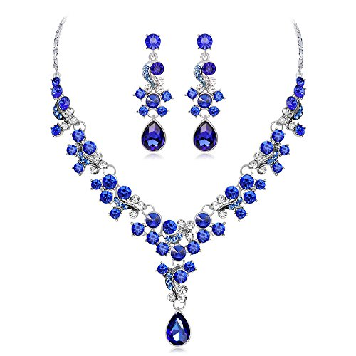 Hope Rhinestone Necklace - LOVFASH Prom Wedding Bridal Party Crystal Rhinestone Necklace Earring Jewelry Sets