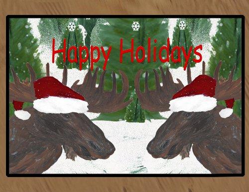 Christmas Area Rugs Floor Mats (Santa Moose, 36 x 60) by xmarc