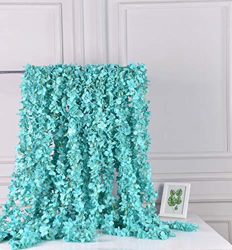 AlphaAcc Artificial Silk Wisteria Flower Hanging Garland Home Wedding Party Decor, Pack of 5