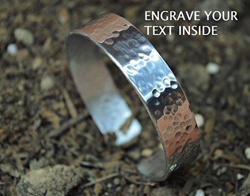THICK sterling silver bracelet custom engraved,handmade silver cuff bracelet,wide silver bracelet,silver 925 bracelet,unique handstamped by siledu